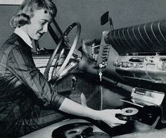 Record Player in Car (1950s).