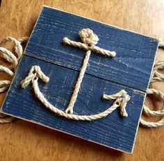 Rope Anchor Sign by SIGNSandWONDERSco on Etsy