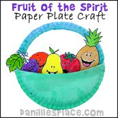 Fruit of the Spirit Paper Plate Craft from www.daniellesplace.com