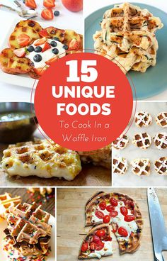 15 Unique Foods To Cook in a Waffle Iron Lots of kid-friendly snacks and treats included.
