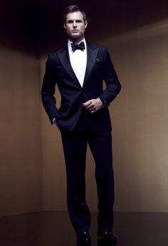 Boss Peak Lapel Single Button Tuxedo