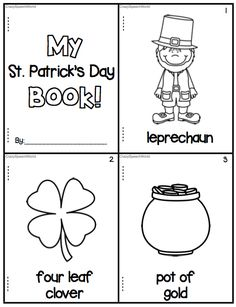 Speechie Freebies: St. Patrick's Day Mini Book! Pinned by SOS Inc. Resources. Follow all our boards at pinterest.com/sostherapy/ for therapy resources.