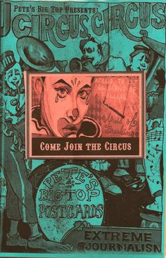 Circus Circus Big Book of Postcards visual www.julianacoles.etsy.com