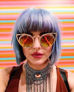 """""""Rad shot from Art Basel in Miami rocking my favorite shades from Cat Eye Sunglasses, Mirrored Sunglasses, Sunglasses Women, Sunnies Sunglasses, Art Basel Miami, Festival Fashion, Stylists, Style Inspiration, Boho"""