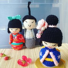 #hellojapan #team_jp  #japanese #kokeshidoll #geisha #supercute #colorful #creative #amigurumi #instacrochet #handcraft #soexcited by syt029