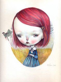 Little sparrow - open edition print dilkabear