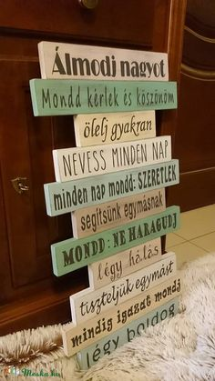Family rules (DreamDecor) - Meska.hu Mind Maps, Family Rules, Art Education, Signs, Inspirational, Home Decor, Nature, House, Glee