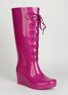 YSL rain boots