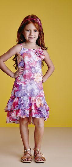 Animê | Verão 2014/15 | moda infantil feminina Girls Dress Up, Little Girl Dresses, Baby Girl Fashion, Kids Fashion, Style Fashion, Fashion Vestidos, Moda Kids, Style Simple, Kids Frocks