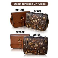 Bring your own unique and beautiful Steampunk Bag to life with our Steampunk Bag Ultimate DIY Guide. This incredibly detailed guide features easy to follow steps within a FORTY page PDF and over 20 minutes of HD Step by Step footage. We also made sure to use materials you can easily find at any craft store near you.  Best of all, for a limited time ONLY, we are offering this ultimate guide to you for whatever price makes you happy! All you have to do is choose the price you want to pay…