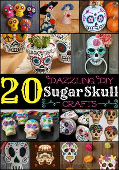 Love Sugar Skulls? Check out these! via @ Totally The Bomb.com/?utm_content=buffer0575f&utm_medium=social&utm_source=pinterest.com&utm_campaign=buffer #sugarskullcraft