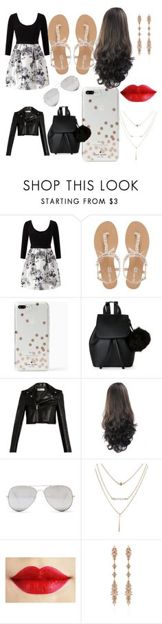 """""""Girls Night Out!!! ♂ :)"""" by imcryforyou ❤ liked on Polyvore featuring Adrianna Papell, Head Over Heels by Dune, Kate Spade, IMoshion, Yves Saint Laurent, Sunny Rebel and Fernando Jorge"""