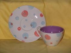 spotty cup and saucer