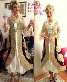 dimija Folk Costume, Costumes, Modele Hijab, Albania, Traditional Dresses, Kaftan, Diy And Crafts, Culture, Weddings