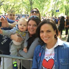 Lana Parrilla meeting fans at the aids walk in NYC May 18th 2014.