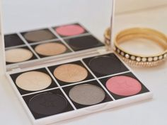 So, here's the palette I built for myself using the new Makeup Obsession Personalised Palette system. I also built one for a friend, and actually enjoyed that a lot – I had to really focus on what I k
