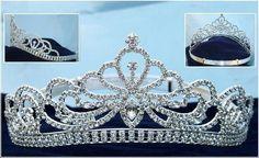 Miss Beauty Queen Pageant Rhinestone Silver Crown Tiara