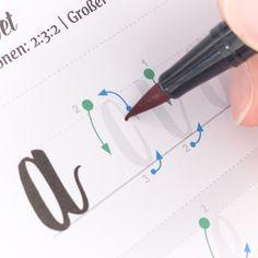 Brushlettering Workbook (for large brushpens) - Handlettering lernen - Art Bullet Journal Writing, Bullet Journal Notes, Bullet Journal Ideas Pages, Bullet Journal Inspiration, Creative Lettering, Lettering Styles, Brush Lettering, Doodle Lettering, Hand Lettering Tutorial