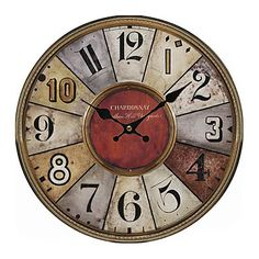 Schmuckbox Vintage France Paris Colorful French Country Tuscan Style Non-Ticking Silent Wood Wall Clock ? Click the image. : home diy wall Rustic Wall Clocks, Rustic Walls, Wall Clock Online, Clock Decor, Tuscan Style, Buying Wholesale, Home Decor Accessories, Diy Wall, Decoupage