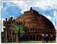 See related links to what you are looking for. Sanchi Stupa, India Palace, Top Destinations, Travel Planner, Monument Valley, Garden Sculpture, Sculptures, Spirituality, Gardens