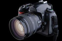 digital SLR camera by begemot_dn. digital SLR camera on a black background Leica Camera, Nikon Dslr, Film Camera, Camera Lens, Camera Raw, Gopro Photography, Digital Photography, Landscape Photography