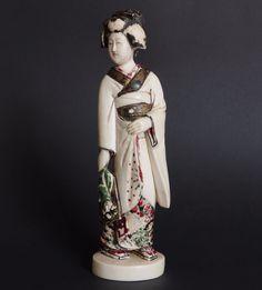 Okimono Geisha Alte Beinschnitzerei statuette Figur antique Japan 19. Jh Meiji | eBay