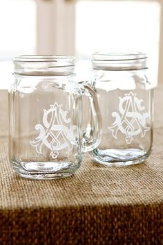 Personalized Mason Jar Shot Glasses