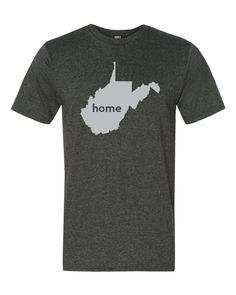 The West Virginia Home T-Shirt is the perfect way to show off your state pride! The home tee has a look and feel you will love! The t-shirt is available in a unisex style or women's style!