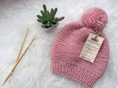 Little Girl Pink Hat -fall - winter month by SweetKnitsStudio on Etsy Winter Hats, Fall Winter, Hat And Scarf Sets, Pink Hat, Girl With Hat, Baby Hats, Pink Color, Pink Girl, Hand Knitting