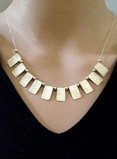 17c99e0d02a7d Handmade Fan Necklace , Sterling Silver Statement Necklace , Mix ...