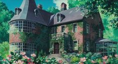 Studio Ghibli is a Japanese animation film studio founded in June 1985 by the directors **Hayao Miyazaki** and **Isao Takahata** and the producer. Kiki Delivery, Kiki's Delivery Service, Studio Ghibli Background, When Marnie Was There, Casa Anime, Lolis Anime, Anime Art, Anime Places, Studio Ghibli Art