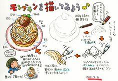 """トキシン tokishin--モンブランの描き方の画像:トキシンのイラストレーター的""""沖縄""""生活"""