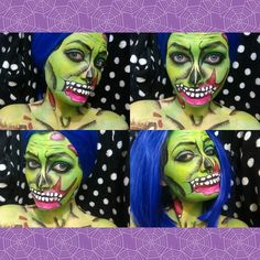 Decided to do a Popart Zombie aka a Zombae last night and it took me until two in the morning to finish it. I was so tired and still didn't finish it completely but I'm happy with the outcome. This was inspired by my favorite makeup artist @mykie_. Hope you guys like it.  #makeup #sfxmakeup #specialeffectsmakeup #specialeffects #spfx #fantasy #fantasymakeup #horror #horrormakeup #mua #makeupartist #cosplay #cosplaymakeup #halloween #halloweenmakeup #mykie #zombiepopart #zombae #popart…