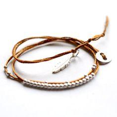 Double wrap around friendship bracelet with by VivienFrankDesigns
