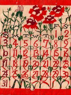 May: Japanese Katazome Calendars