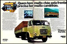 Anúncio caminhão Fiat 190 - 1977 -
