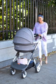 Looking for a chic stroller for your new baby? Check out Stokke Crusi – XL shopping basket, smooth to push, tons of available accessories & it can covert into a double stroller too!
