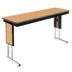 Adjustable Height Folding Leg Seminar Table - 96 x 20 - 41196 and more Lifetime Guarantee