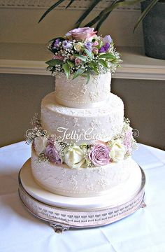 Floral Lace Wedding Cake | Flickr - Photo Sharing!