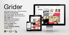 Grider Retina Responsive WordPress Theme - News - Bubblews