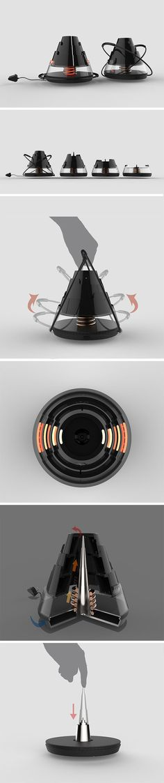 LAVA, named after its volcano-inspired shape, is a must-have for anyone who loves wintertime camping. Unlike gas heaters, LAVA utilizes safe and efficient induction heating technology to keep you and friends toasty! This also makes its modular design possible. Consisting of a compact base with 3 stackable units, it can be used as one standalone system to heat your entire tent, or divided into 4 separate heating entities to warm dedicated spots.