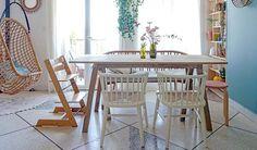 DIY pour fabriquer une table à manger rustique - Table pour salle à manger - 18h39.fr Diy Table, Dining Table, Grande Table A Manger, Furniture, Design, Home Decor, Rustic Dining Table Set, Oak Dining Table, How To Make Furniture