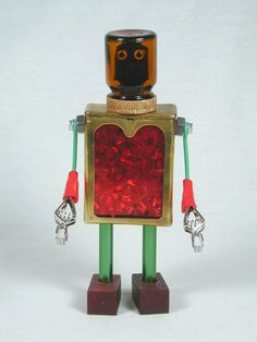 MASON Found Object Robot Sculpture Assemblage