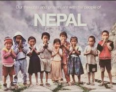 Thoughts & Prayers for the people in Nepal!