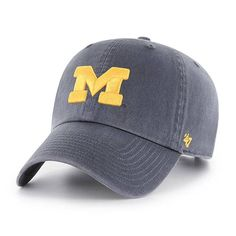 reputable site f2d67 1e436 Michigan Wolverines U of M 47 Brand Vintage Navy Clean Up Hat