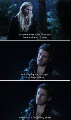 Hook definitely getting the best one liners and comebacks this episode. #ouat #heartofthetruestbeliever