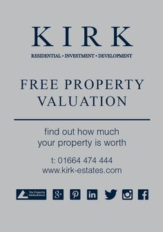 Contact us today for your FREE property valuation 01664 474 444 Investing, Company Logo, Free