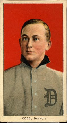 One of seven identical Ty Cobb baseball cards — a baseball-card find of a lifetime — that were found crumpled paper bag in a dilapidated house.