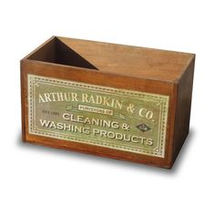 Vintage Wooden Cleaning Products Crate from notonthehighstreet.com