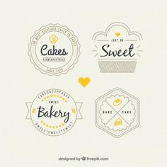 Retro bakery logos pack
